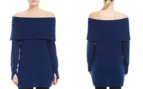 HALSTON HERITAGE Fold-Over Off-the-Shoulder Wool & Cashmere Sweater - Bloomingdale's_2