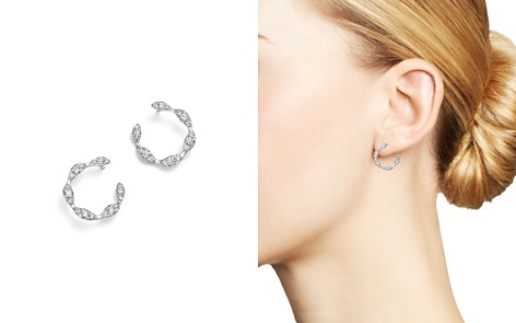 Diamond Circle Small Earrings in 14K White Gold, .60 ct. t.w. - 100% Exclusive - Bloomingdale's_2