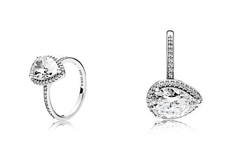 PANDORA Ring - Sterling Silver & Cubic Zirconia Radiant Teardrop - Bloomingdale's_2