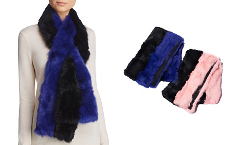 Surell Pieced Rabbit Fur Scarf - 100% Exclusive - Bloomingdale's_2