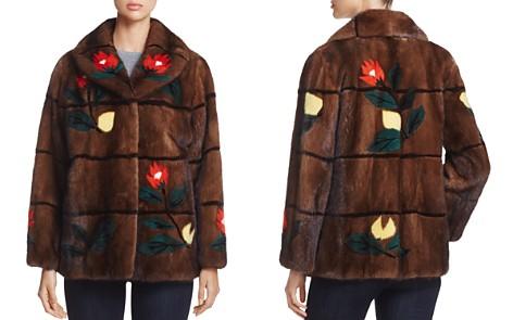 Maximilian Furs Floral Intarsia Kopenhagen Mink Fur Coat - 100% Exclusive - Bloomingdale's_2