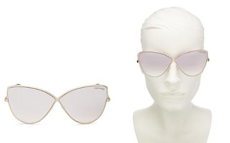 Tom Ford Elise Mirrored Oversized Cat Eye Sunglasses, 65mm - Bloomingdale's_2