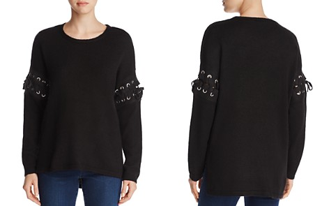 Alison Andrews Lace-Up Sleeve Sweater - Bloomingdale's_2