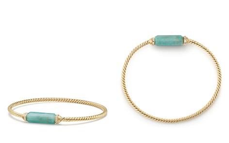 David Yurman Barrels Bracelet with Diamonds & Amazonite in 18K Gold - Bloomingdale's_2