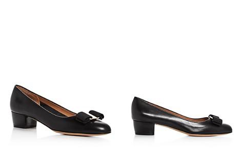 Salvatore Ferragamo Women's Vara Leather Low Heel Pumps - Bloomingdale's_2