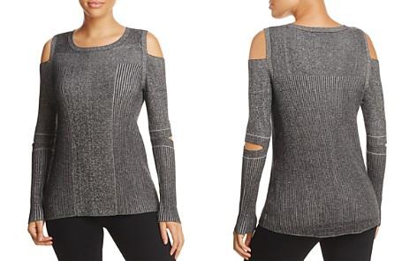 Design History Cold Shoulder Slit Elbow Sweater - Bloomingdale's_2