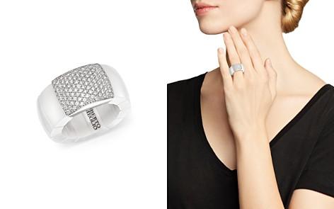 Roberto Demeglio 18K White Gold & White Ceramic Domino Stretch Ring with Diamonds - Bloomingdale's_2