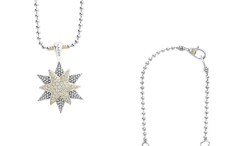 "LAGOS 18K Gold & Sterling Silver North Star Diamond Large Pendant Necklace, 16"" - Bloomingdale's_2"