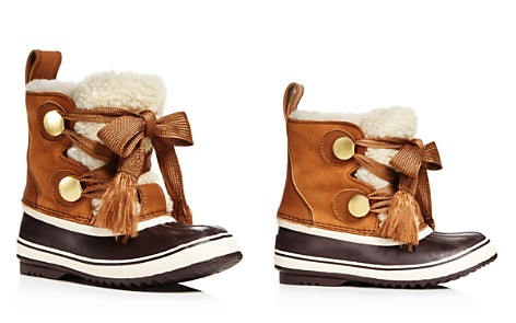 Sorel x Chloé Women's Waterproof Suede & Shearling Lace Up Cold-Weather Booties - Bloomingdale's_2