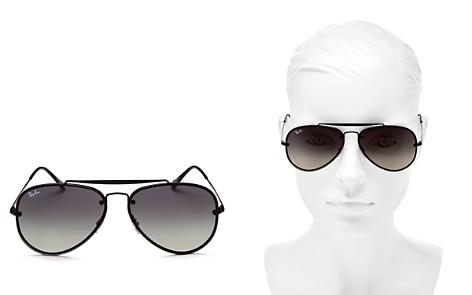 Ray-Ban Blaze Brow Bar Aviator Sunglasses, 61mm - Bloomingdale's_2