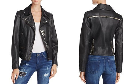 True Religion Studded Leather Jacket - Bloomingdale's_2