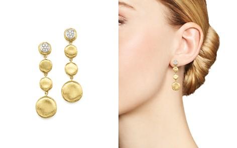 Marco Bicego Pavé Diamond Jaipur Drop Earrings in 18K White & Yellow Gold - Bloomingdale's_2
