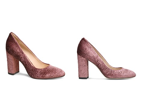 Sam Edelman Women's Stillson Embossed Velvet Block Heel Pumps - Bloomingdale's_2
