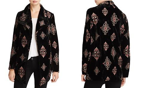Karen Kane Embroidered Velvet Jacket - 100% Exclusive - Bloomingdale's_2