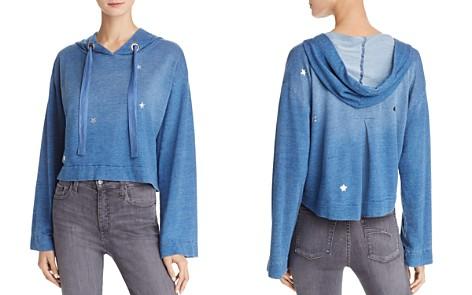 Bella Dahl Star-Print Back-Pleat Cropped Hoodie - Bloomingdale's_2