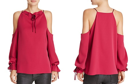 Cooper & Ella Camila Tie-Neck Cold-Shoulder Top - Bloomingdale's_2