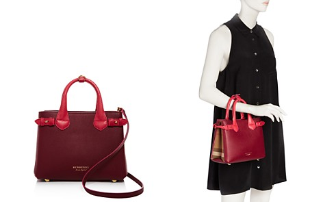 Burberry Banner House Check Small Leather Satchel - Bloomingdale's_2