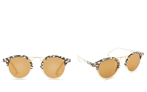 Krewe Women's St. Louis 24K Gold Mirrored Round Sunglasses, 46mm - Bloomingdale's_2