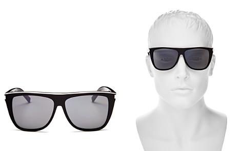 Saint Laurent Men's Flat Top Square Sunglasses, 57mm - Bloomingdale's_2