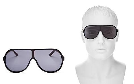 Gucci Men's Vintage Web Oversized Shield Sunglasses, 130mm - Bloomingdale's_2