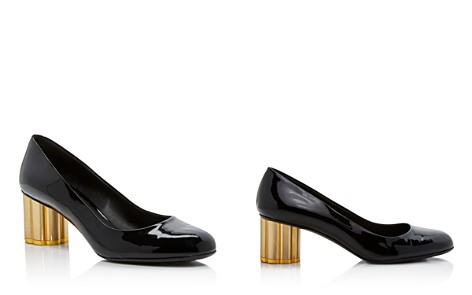 Salvatore Ferragamo Women's Lucca Patent Leather Floral Heel Pumps - Bloomingdale's_2