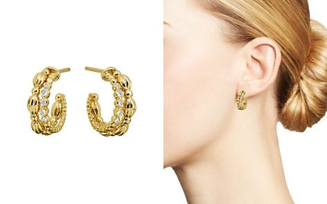 Gumuchian 18K Yellow Gold Diamond Small Nutmeg Double Hoop Earrings - Bloomingdale's_2