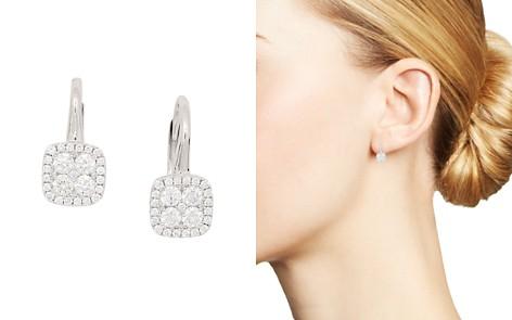 Frederic Sage 18K White Gold Diamond Firenze Small Cushion Polished Bale Earrings - Bloomingdale's_2