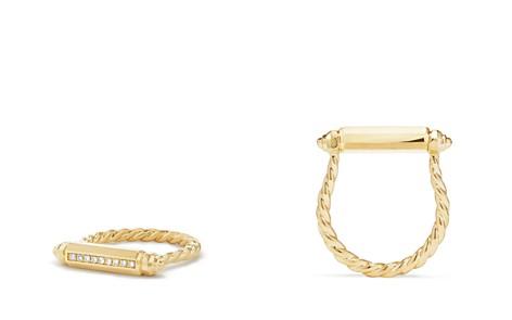 David Yurman Barrels Ring with Diamonds in 18K Gold - Bloomingdale's_2