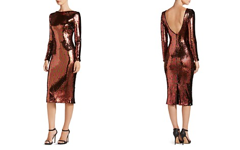 Dress the Population Emery Long-Sleeve Sequin Dress - Bloomingdale's_2