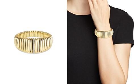 Hulchi Belluni 18K Yellow Gold Tresore Diamond Graduated Banded Bracelet - Bloomingdale's_2
