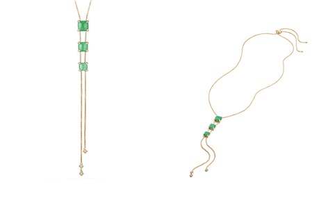David Yurman Châtelaine Y Necklace with Chrysoprase & Diamonds in 18K Gold - Bloomingdale's_2
