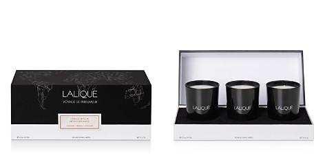 Lalique Mediterranean Colours 3-Piece Scented Candle Set, Cuir, Figuier, Néroli, Pivoine - Bloomingdale's_2