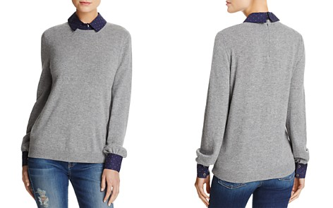 Joie Bahiti Wool & Cashmere Faux Shirt Underlay Sweater - Bloomingdale's_2