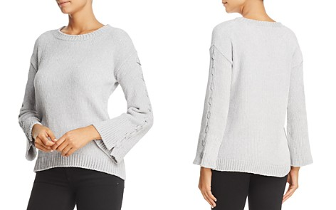 Heather B Lace-Up Bell Sleeve Chenille Sweater - 100% Exclusive - Bloomingdale's_2