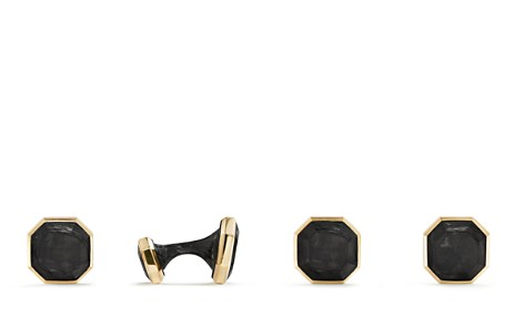 David Yurman Forged Carbon Cufflinks in 18K Gold - Bloomingdale's_2