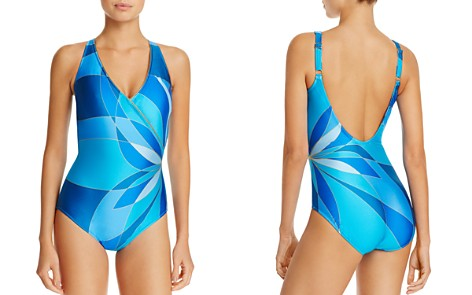 Gottex Crossover V-Neck One Piece Swimsuit - Bloomingdale's_2