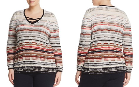 NIC+ZOE Plus Red Hills Crossover Strap Sweater - Bloomingdale's_2
