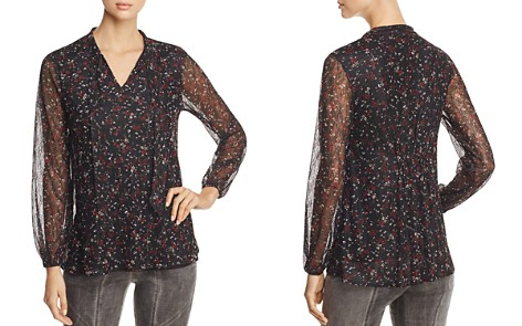 Lyssé Floral Lace Tie Neck Top - Bloomingdale's_2