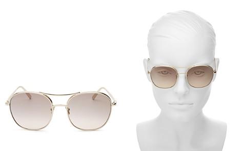 Chloé Women's Chloé Nola Round Aviator Sunglasses, 54mm - Bloomingdale's_2