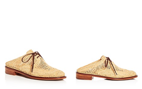 Robert Clergerie Women's Jaly Raffia Lace Up Mules - Bloomingdale's_2