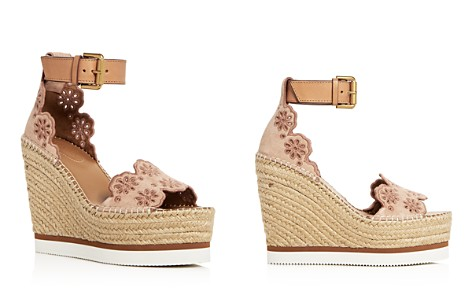 See by Chloé Cutout Suede Espadrille Platform Wedge sandals - Bloomingdale's_2