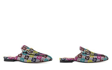 Gucci Women's Princetown Velvet G Embossed Mules - Bloomingdale's_2