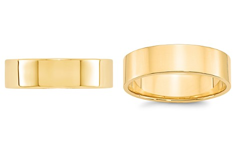 Bloomingdale's Men's 6mm Lightweight Flat Band Ring in 14K Yellow Gold - 100% Exclusive_2