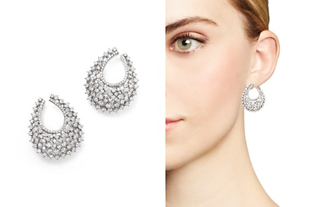 Bloomingdale's Diamond Statement Hoop Earrings in 14K White Gold, 3.85 ct. t.w. - 100% Exclusive_2