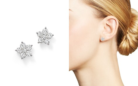 Bloomingdale's Diamond Flower Stud Earrings in 14K White Gold, 1.0 ct. t.w. - 100% Exclusive_2