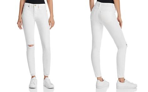 BLANKNYC Great White Distressed Skinny Jeans in White - Bloomingdale's_2