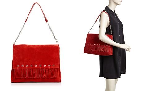 Longchamp Paris Rocks Folk Suede Shoulder Bag - Bloomingdale's_2