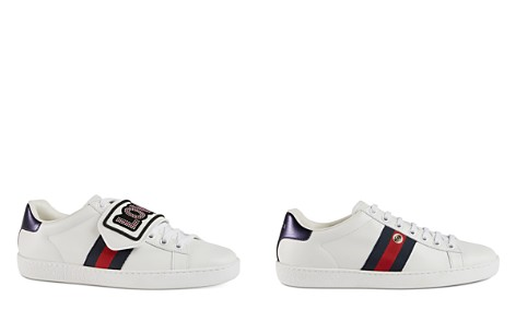 Gucci Women's New Ace Snap On Low Top Leather Sneakers - Bloomingdale's_2