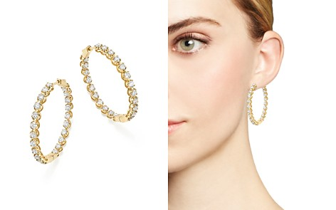 Bloomingdale's Diamond Inside-Out Hoop Earrings in 14K Yellow Gold, 5.0 ct. t.w. - 100% Exclusive _2