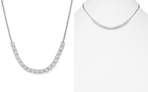 Bloomingdale's Diamond Cluster Necklace in 14K White Gold, 2.0 ct. t.w. - 100% Exclusive _2